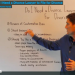 Experienced male attorney-mediator explaining if you need a divorce lawyer to file for divorce.